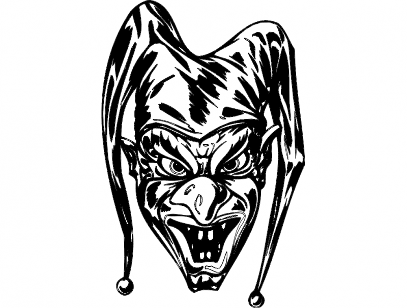 Scary Clown Free DXF File