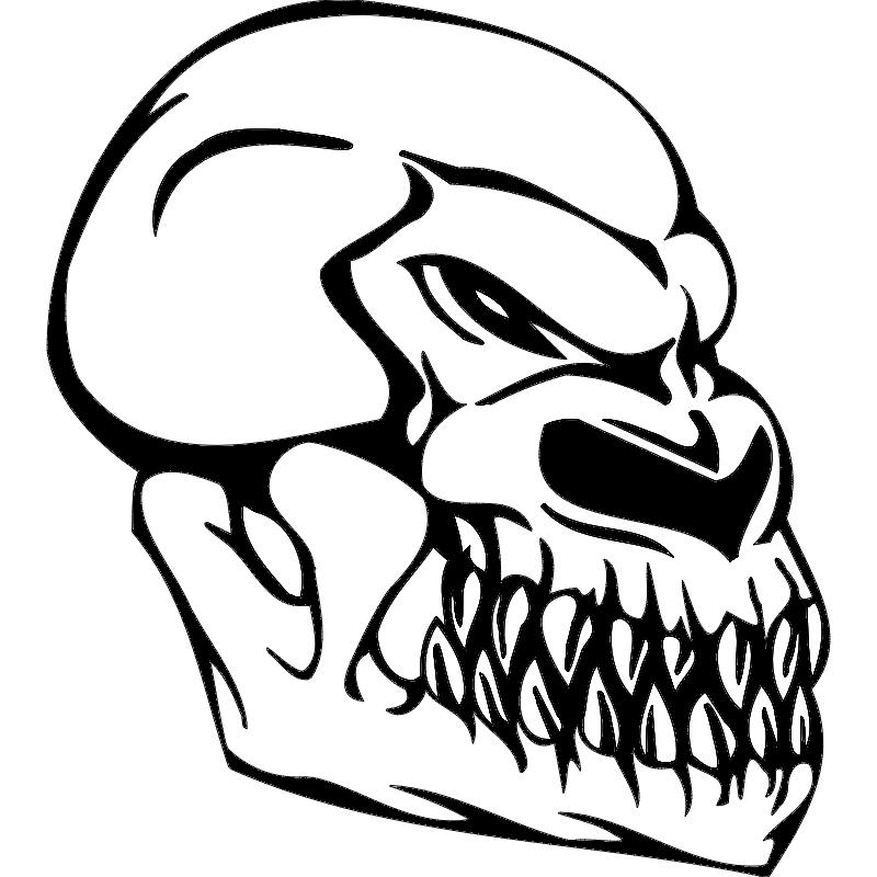 Skull Sketch Free DXF File