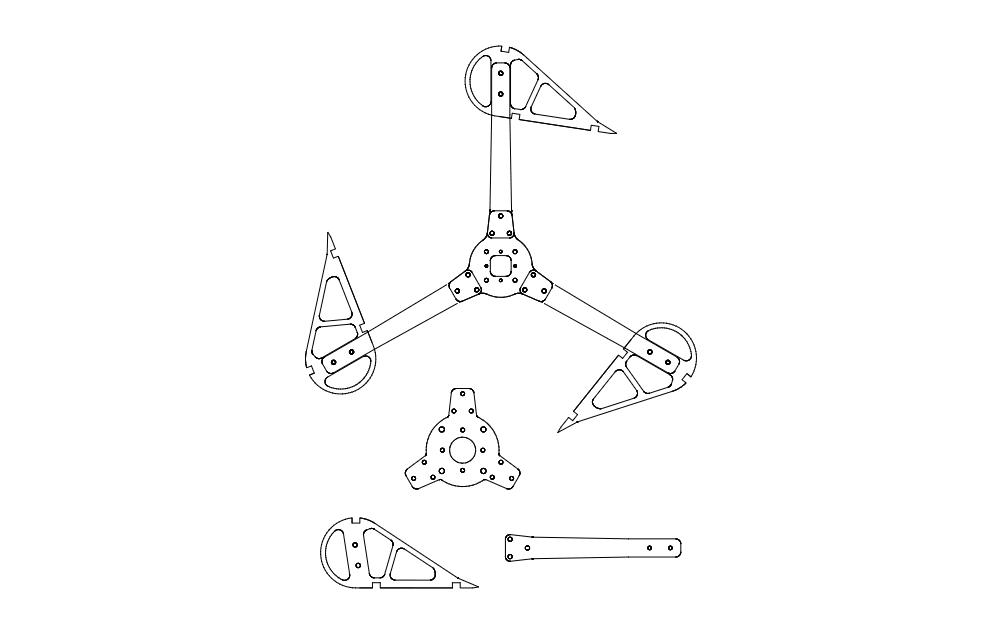 Vertical Wind Turbine Free DXF File