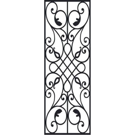 Laser Cut Victorian Iron Pattern Free DXF File