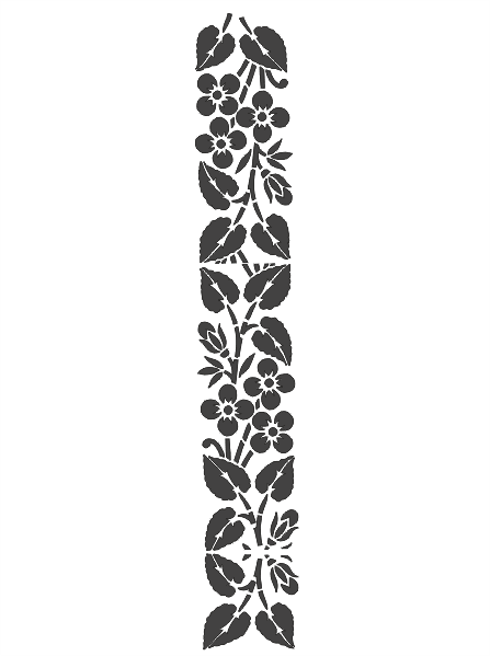 Wall Art Flower Carving Stencil Silhouette Free DXF File