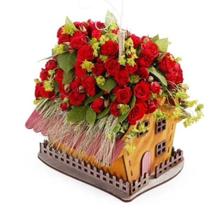 Laser Cut House Shaped Planter Flower Pot Home Decor Free CDR Vectors Art