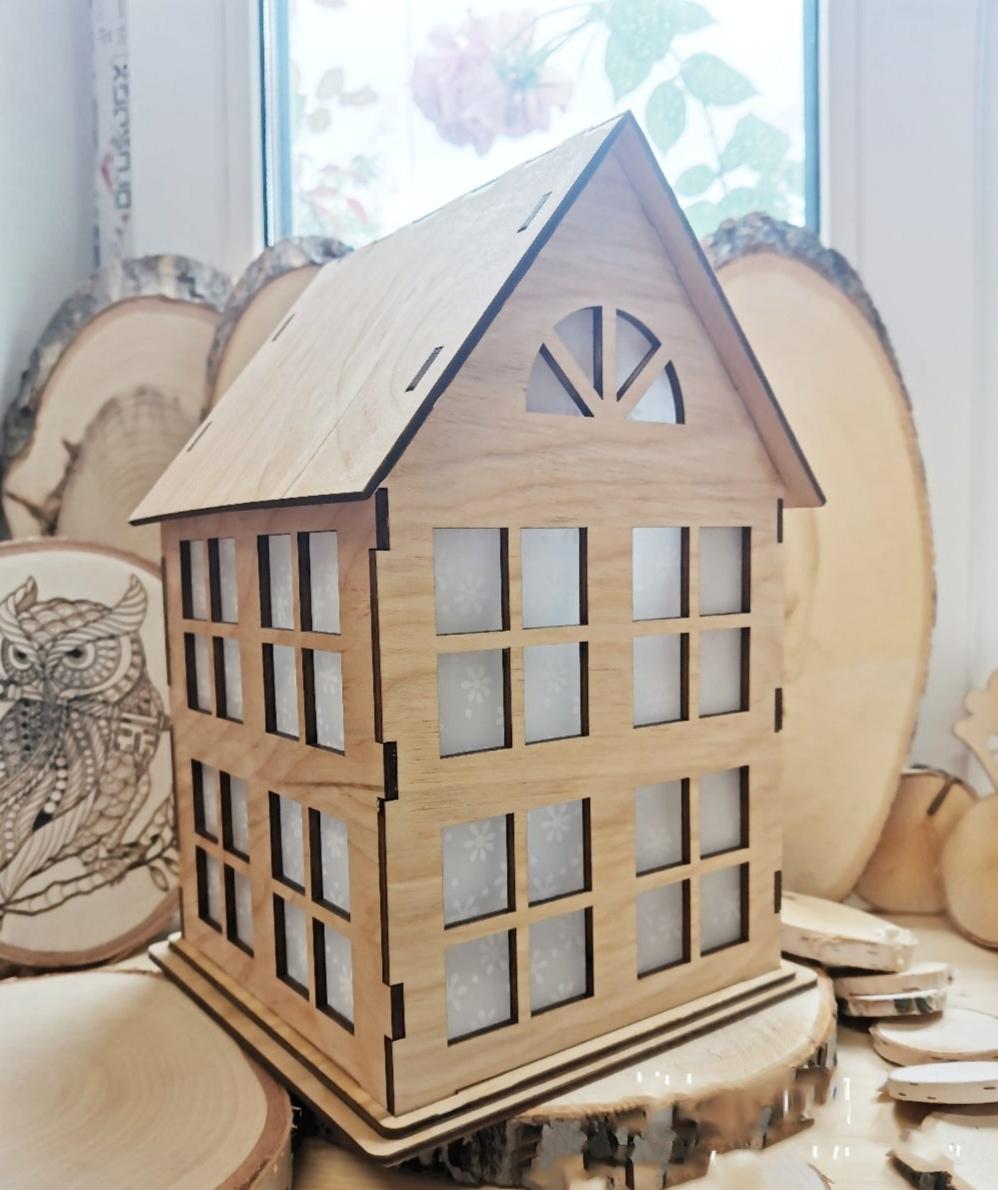 Laser Cut Small Wooden House 4mm Free CDR Vectors Art