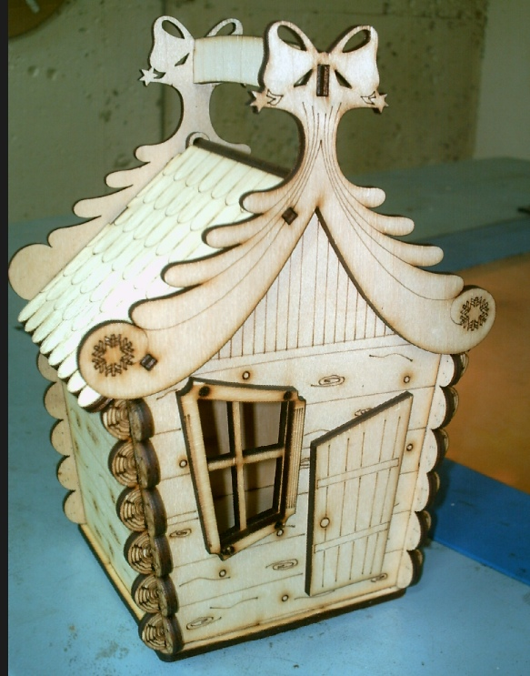 Laser Cut Candy House Christmas Decor Holiday Decor 4mm Plywood Free CDR Vectors Art