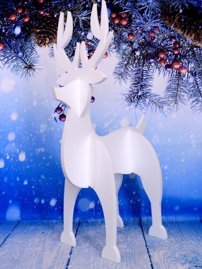 Laser Cut Reindeer Christmas Decoration Free CDR Vectors Art