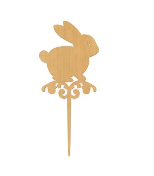 Laser Cut Easter Bunny Topper Plywood Free CDR Vectors Art