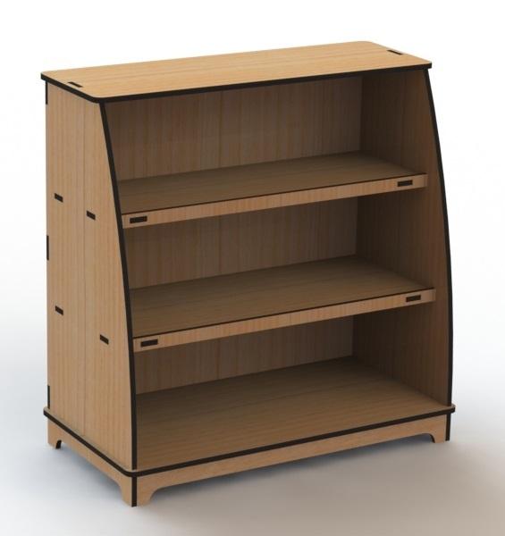 Laser Cut Wooden Storage Shelf Rack Free CDR Vectors Art