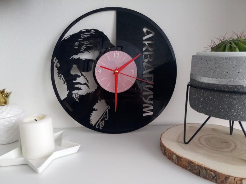 Laser Cut Aquarium Russian Rock Band Vinyl Record Wall Clock Free CDR Vectors Art