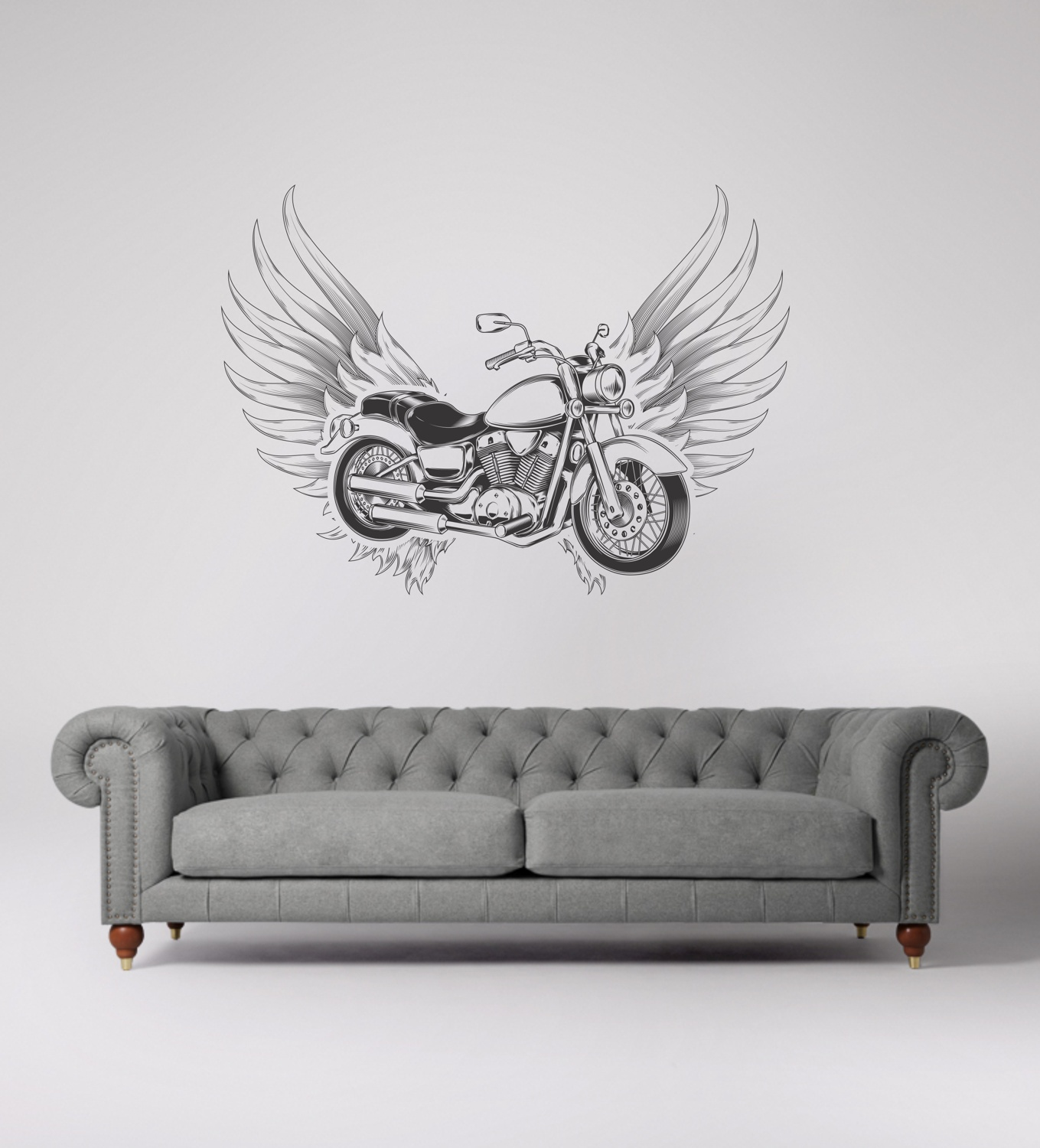 Laser Cut Engrave Flying Motorcycle Wall Art Free CDR Vectors Art