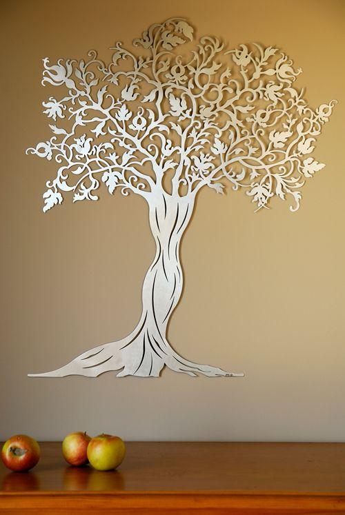 Laser Cut Decorative Wall Tree Free CDR Vectors Art
