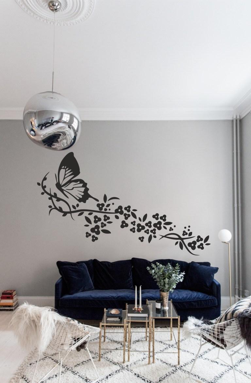 Laser Cut Wall Art Butterfly With Flowers Set Free CDR Vectors Art