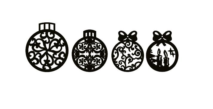 Laser Cut Christmas Decorations Ornaments Template Free CDR Vectors Art