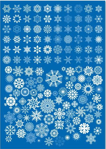 Laser Cut Christmas Decorations Snowflackes Template Free CDR Vectors Art