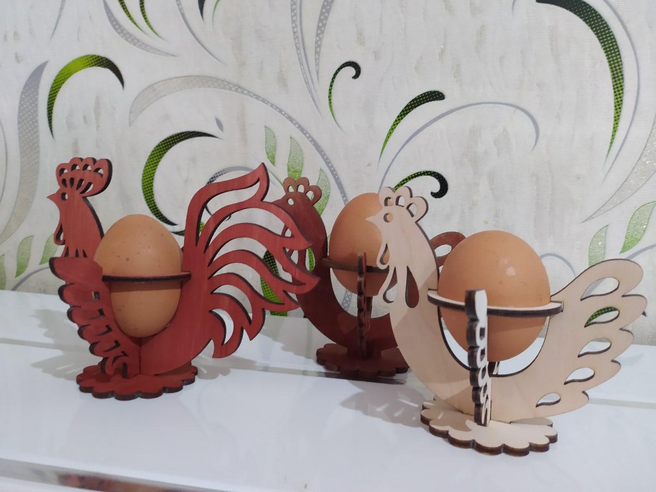 Laser Cut Decorative Easter Egg Holder Free CDR Vectors Art