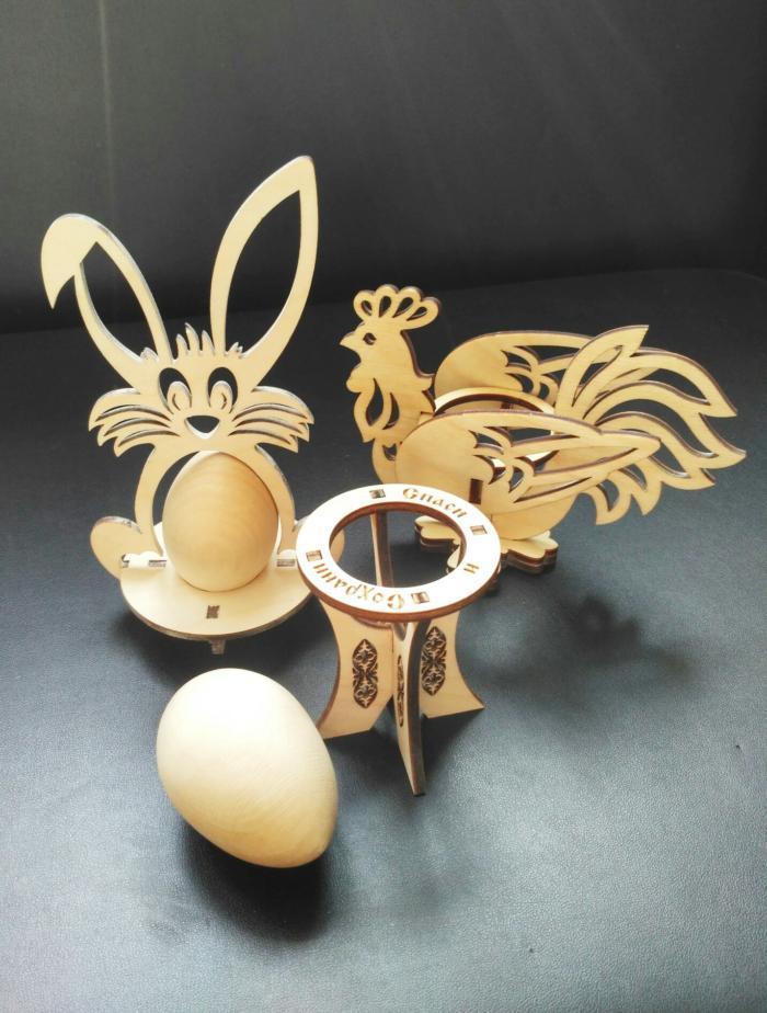 Laser Cut Easter Decorations Plywood Free CDR Vectors Art