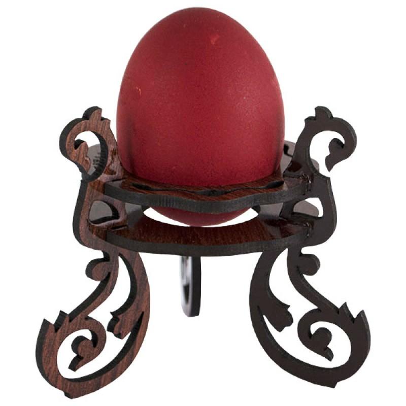 Laser Cut Wooden Decorative Easter Egg Stand Free CDR Vectors Art