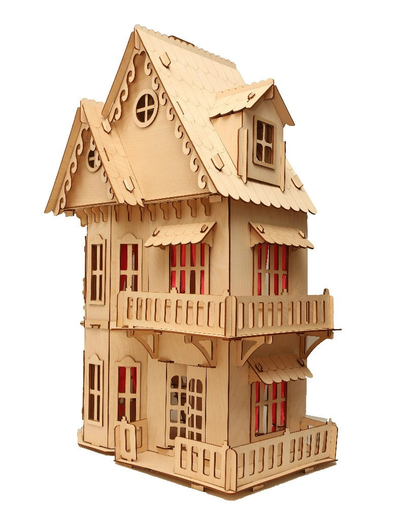 Laser Cut Wooden Dollhouse 3mm Free CDR Vectors Art