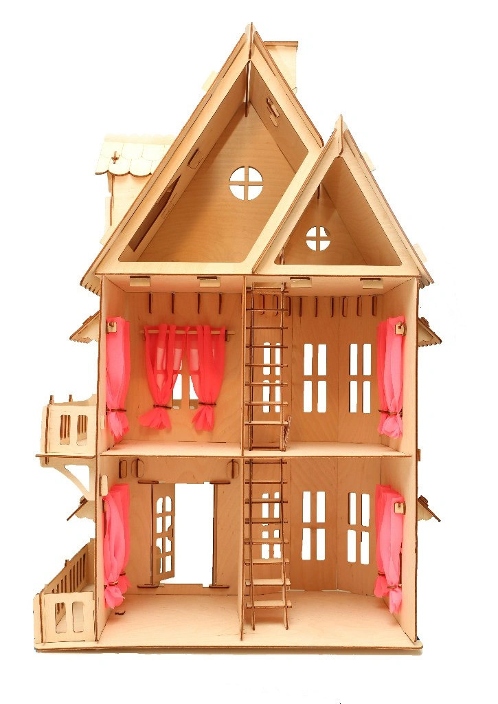 Wooden Dollhouse 3mm Free CDR Vectors Art