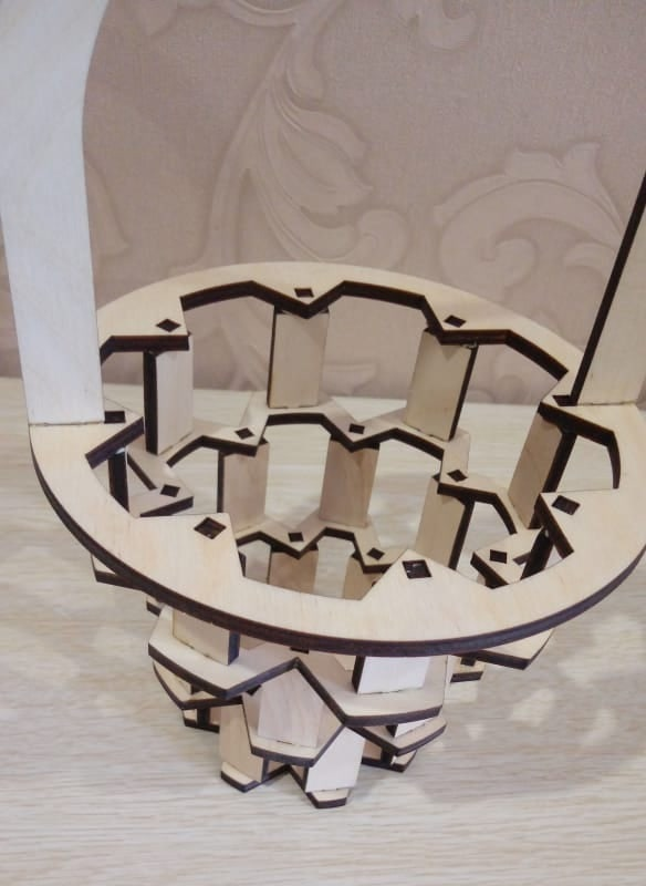 Laser Cut Wooden Candy Basket Free CDR Vectors Art