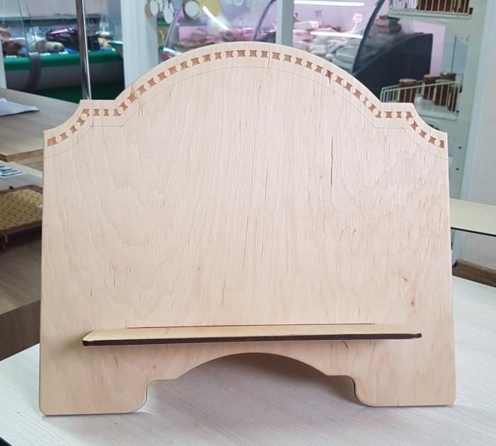 Laser Cut Wooden Book Stand Free CDR Vectors Art