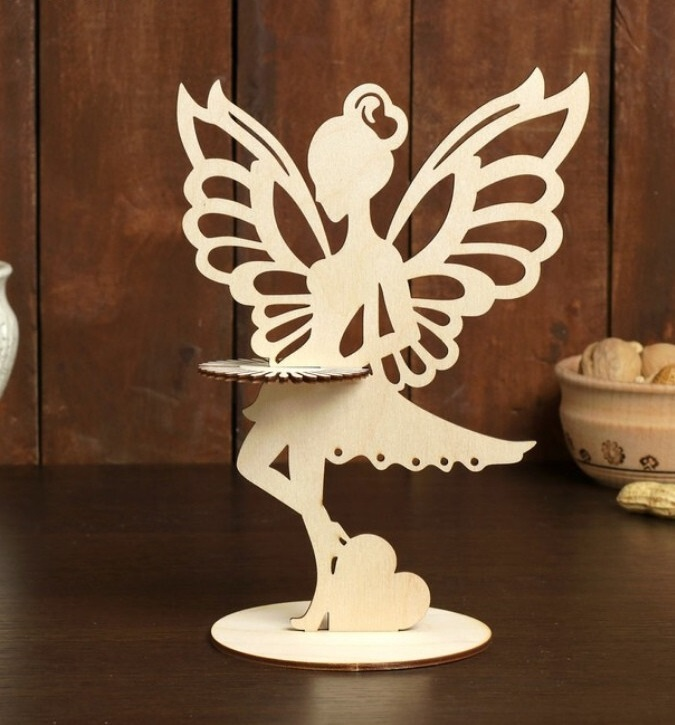 Laser Cut Fairy Napkin Holder Plywood Free CDR Vectors Art