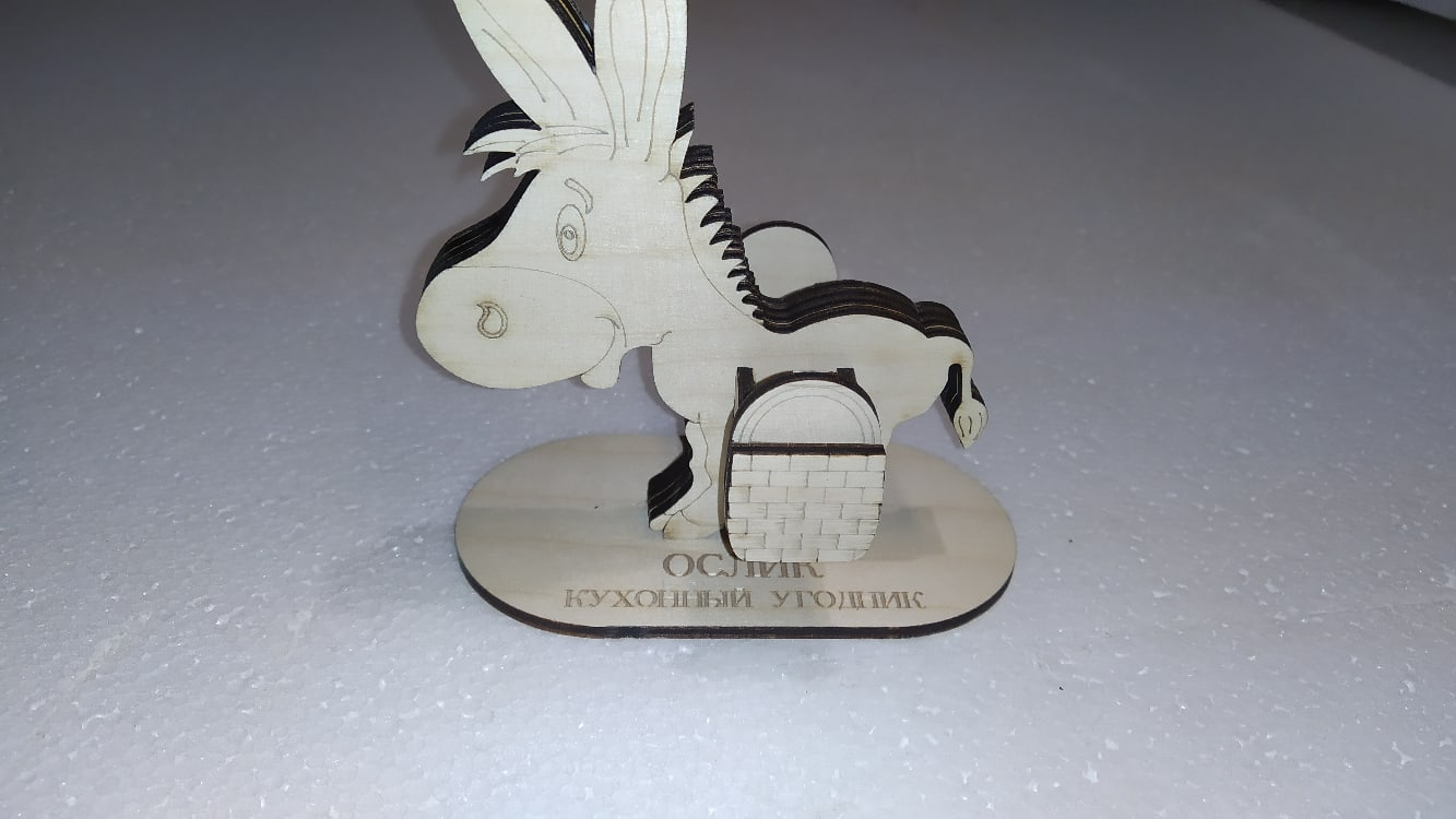 Laser Cut Animal Donkey Toothpicks Holder Toothpick Dispenser Free CDR Vectors Art