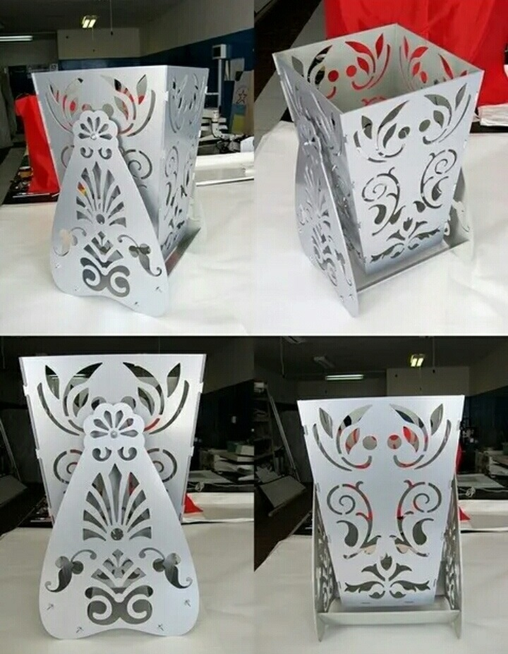 Laser Cut Decorative Vase Flower Box With Stand Free DXF File