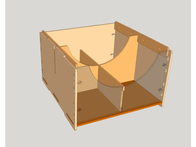 Stackable Box For Lego Free DXF File
