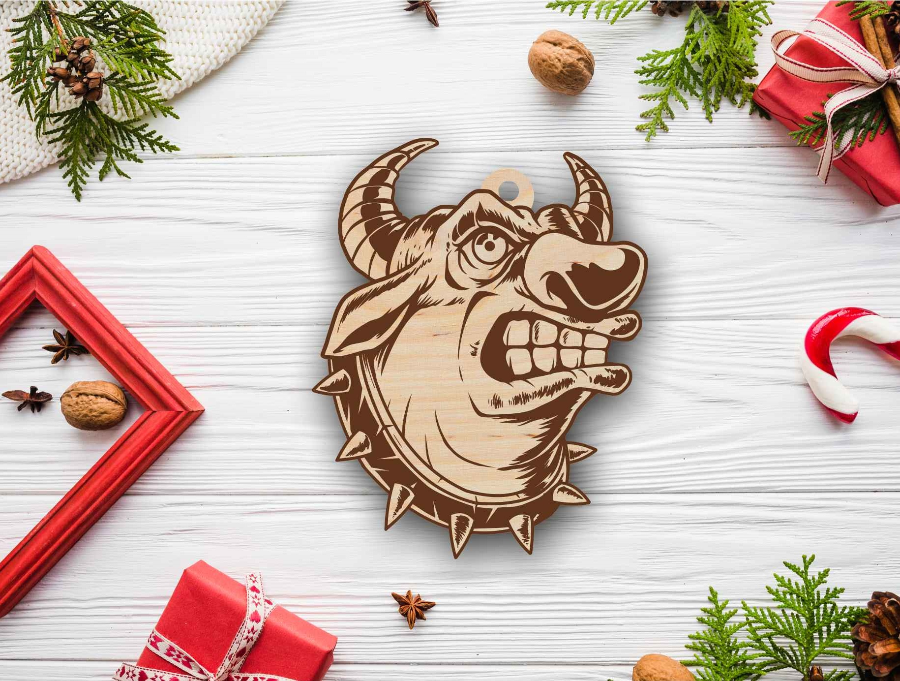 Laser Cut Bull New Year Christmas Toy Free DXF File
