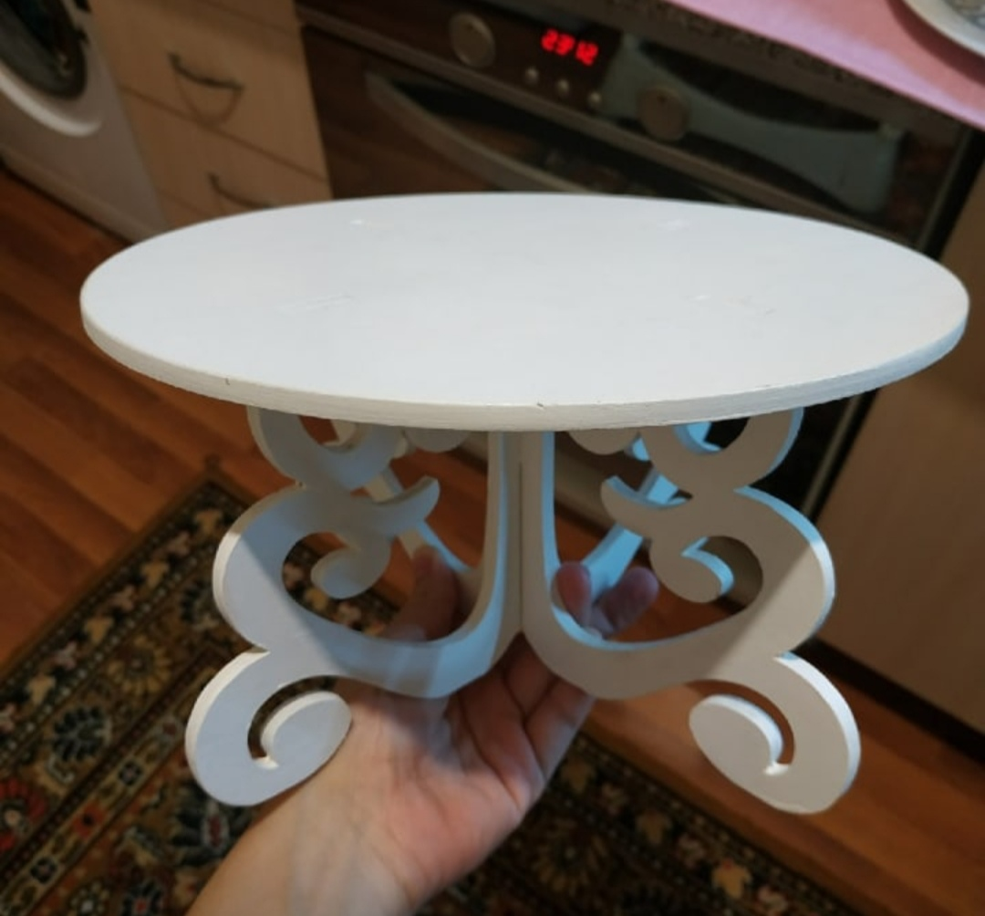 Laser Cut Christmas Cake Stands Decorative Cake Stands Ideas Free DXF File