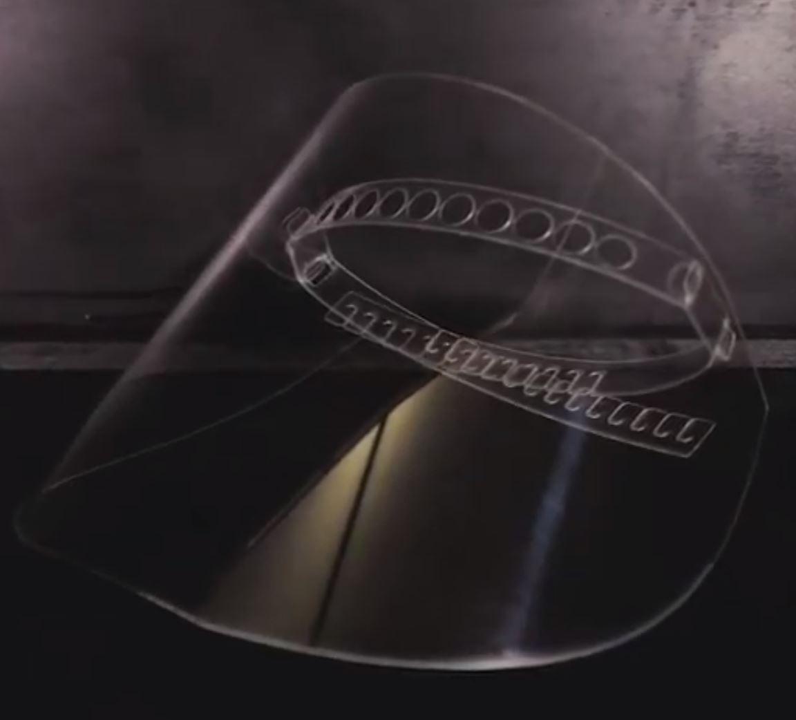 Laser Cut Face Shield Mask covid-19 Free DXF File