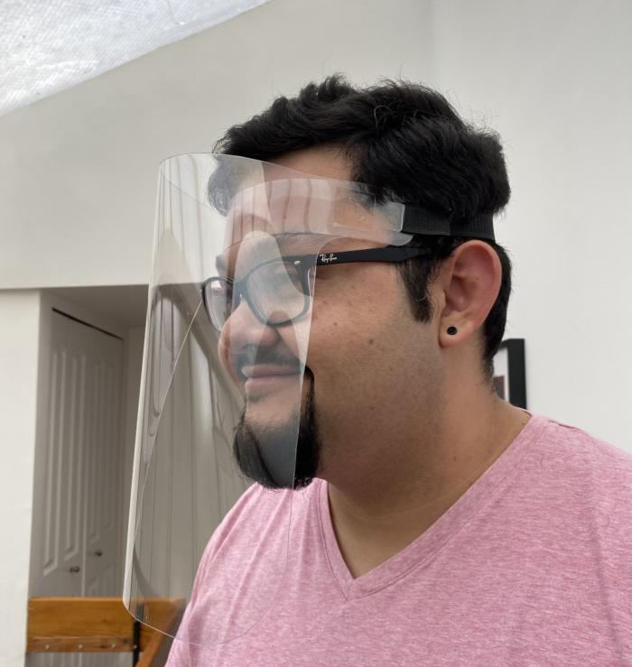 Laser Cut Single Piece Face Shield Ppe Free DXF File