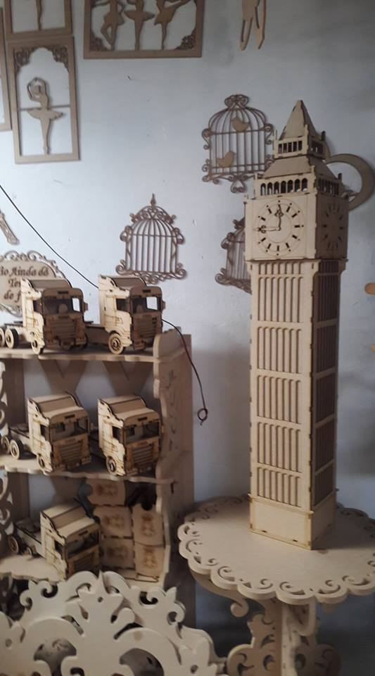 Laser Cut Big Ben Wooden Model 3d Puzzle Free DXF File