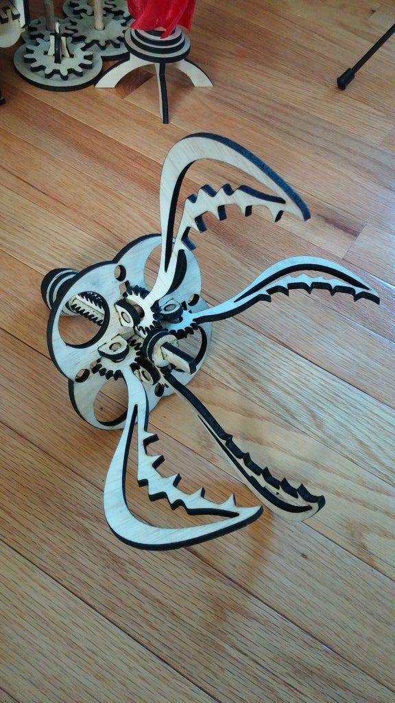 Laser Cut Wooden Claw Free DXF File