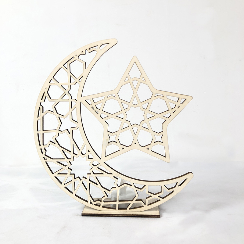 Ramadan Moon Star Decorations Wooden Ornaments Free DXF File