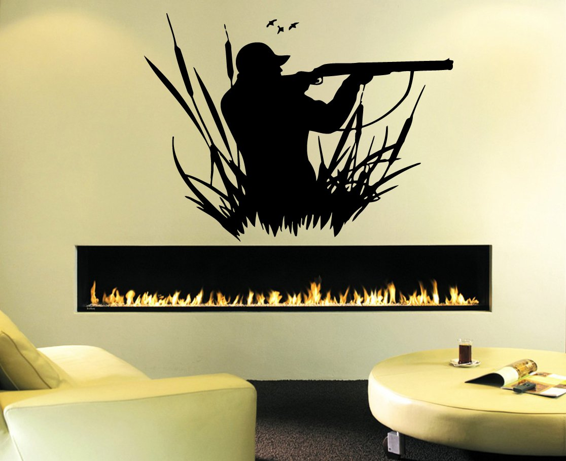 Laser Cut Engrave Duck Hunting Wall Art Decal Free DXF File