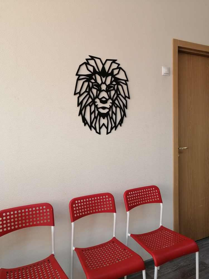 Lion Polygon Art Wall Decor 3d Sculpture Free DXF File