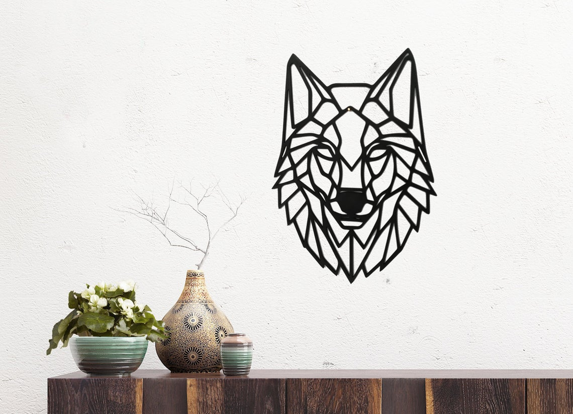 Laser Cut Wolf Wall Art Polygon Art Wall Decor 3d Sculpture Free DXF File