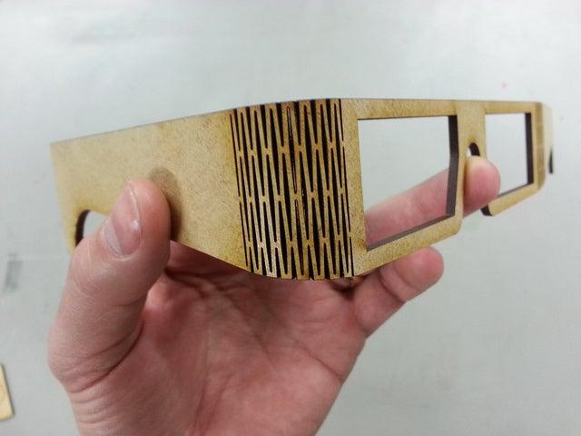 Laser Cut Bend Glasses Free DXF File