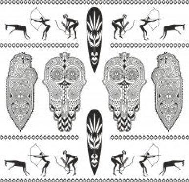 Africa Totem Vector Set Free CDR Vectors Art
