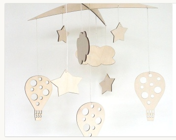 Laser Cut Baby Crib Mobile Hanging Baby Mobile Free CDR Vectors Art