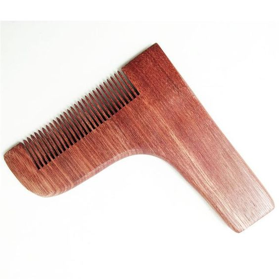 Laser Cut Beard Shaping And Styling Tool Comb Free CDR Vectors Art