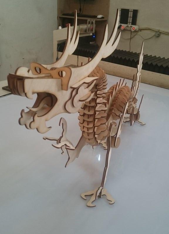 Laser Cut Chinese Dragon Free CDR Vectors Art