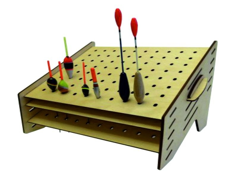 Laser Cut Fishing Float Storage Stand 25×35 Free DXF File