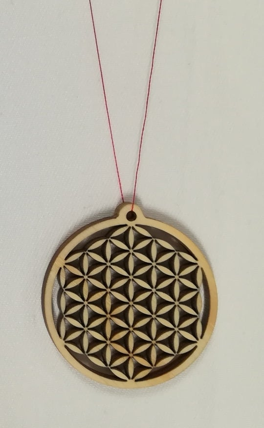 Laser Cut Flower Of Life Pendant Free DXF File