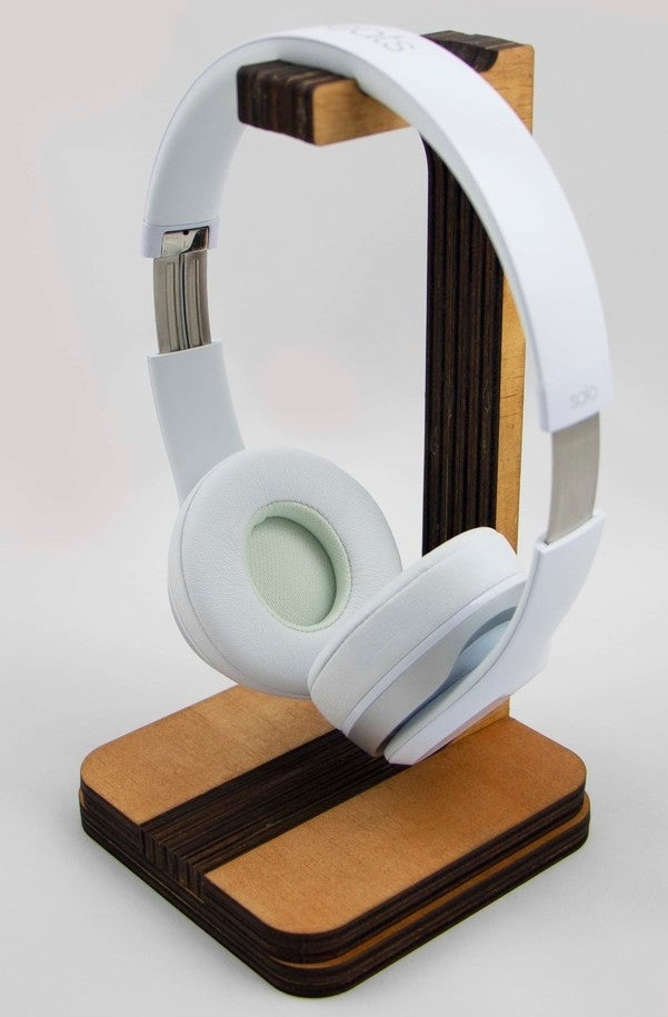 Laser Cut Headphone Stand Free DXF File