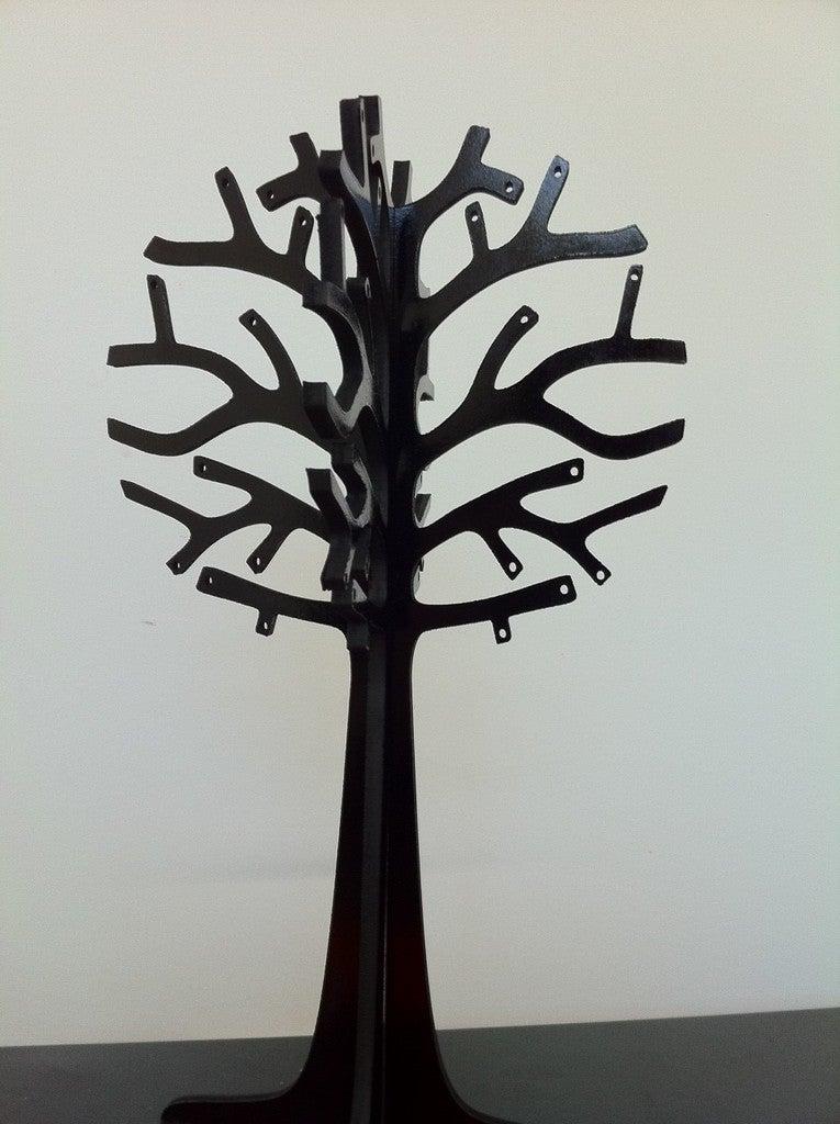 Laser Cut Jewelry Tree 3mm Free DXF File