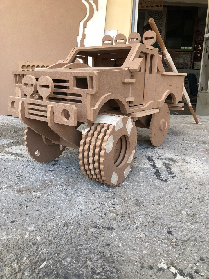 Laser Cut Monster Truck Toy Free DXF File