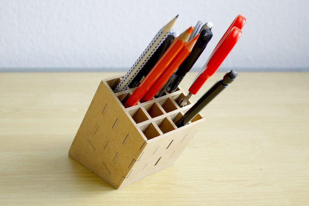 Laser Cut Pencil Stand 3mm Free DXF File