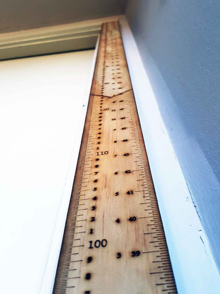 Laser Cut Portable Height Measuring Ruler Free DXF File